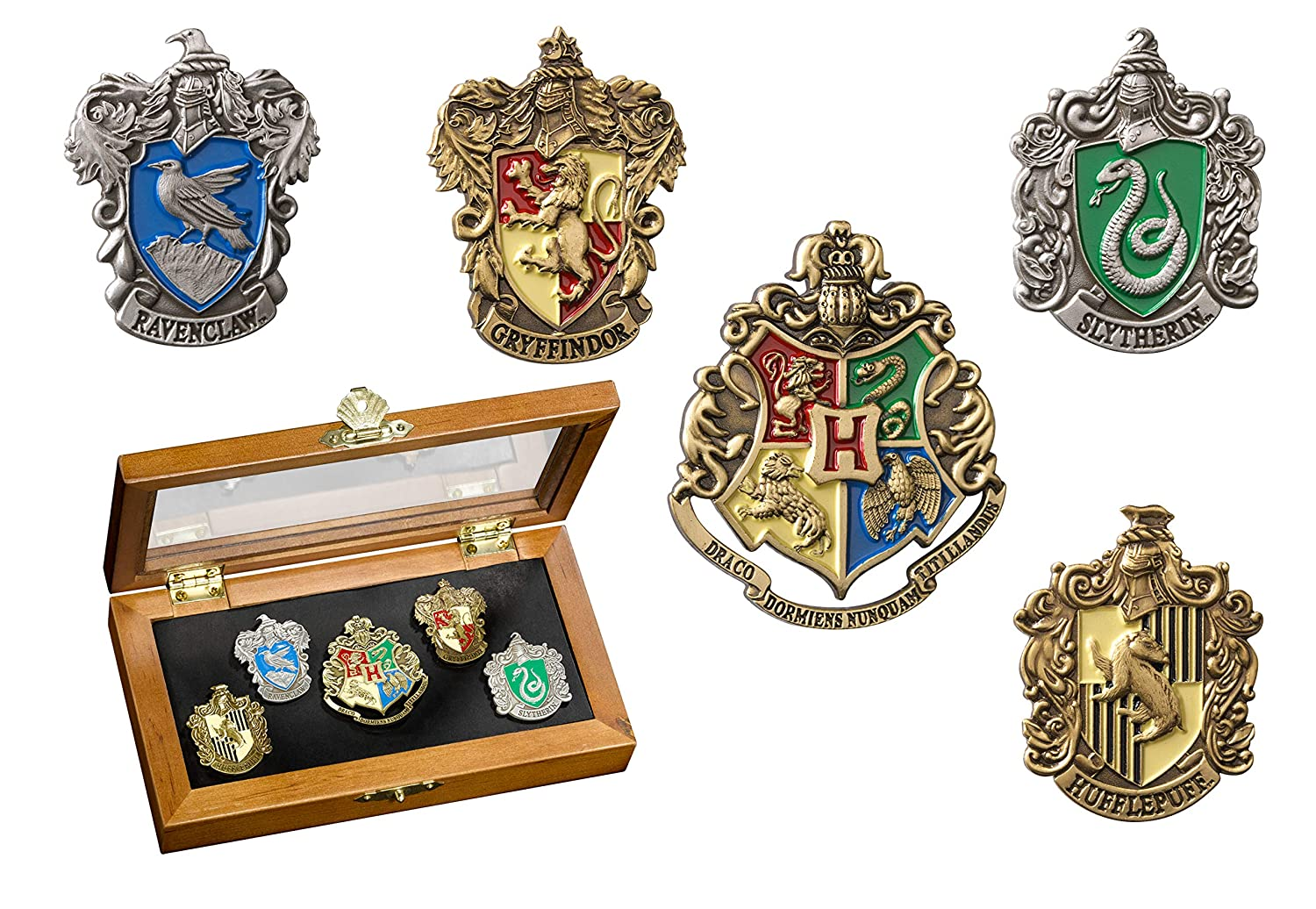 The Noble Collection Harry Potter House Crest Pin Set
