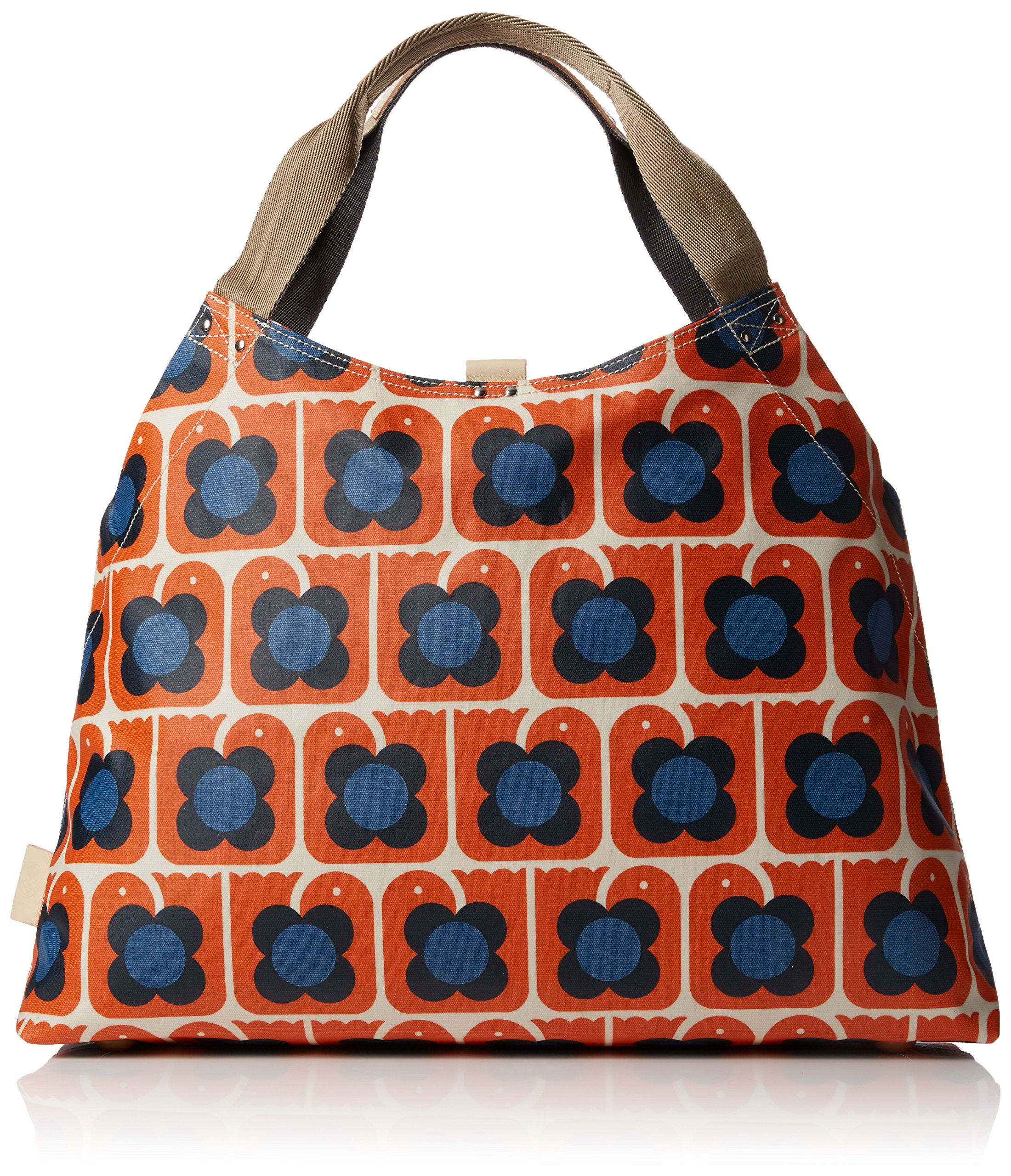 Orla Kiely Love Birds Print Large Holdall Bag, Persimmon