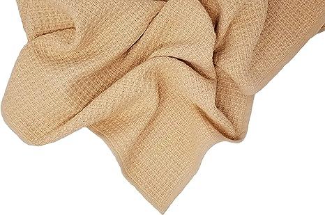 Zoog - Manta de algodón orgánico de calidad premium con certificado GOTS no químico, no tóxico, 100% algodón orgánico, tejido suave, 78,7 x 101,6 cm, color azul y rosa y verde (Naranja): Amazon.es: Bebé