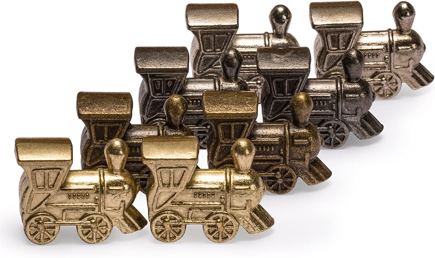 Yellow Mountain Imports Die-Cast Train Markers for Mexican Train Dominoes, Set of 8