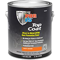 POR-15 46201 Top Coat Safety Orange Paint 128 fl. oz, 1 Gallon photo