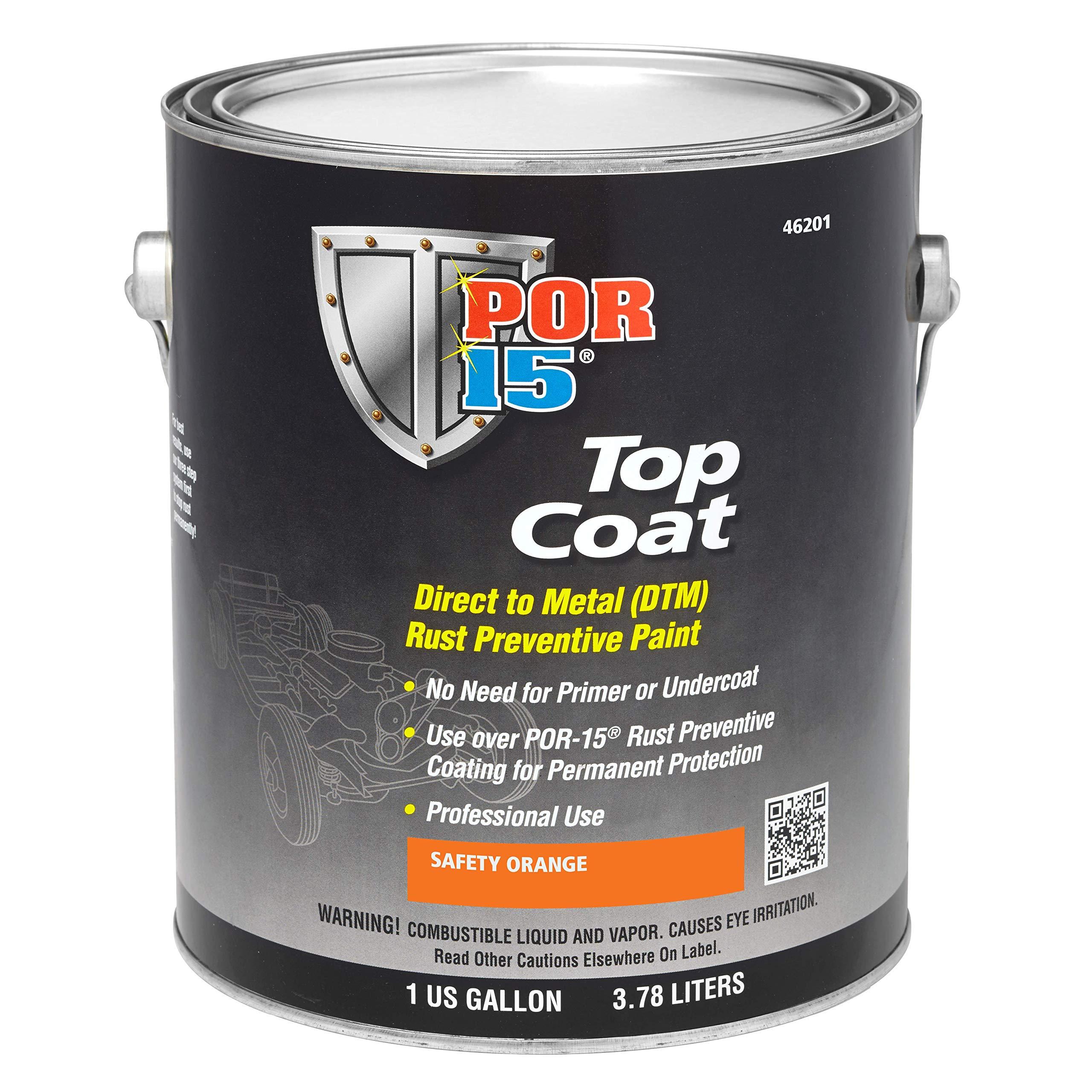 POR-15 46201 Top Coat Safety Orange Paint, 128. Fluid_Ounces