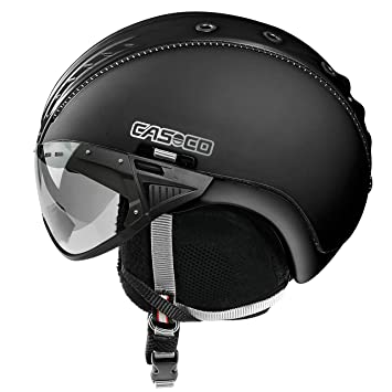 Casco de esquí «SP-2 Snowball Visor», niño, color negro,