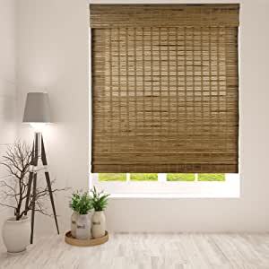 "Arlo Blinds Dali Native Cordless Bamboo Shades Blinds - Size: 34"" W x 60"" H, Cordless Lift System ensures Safety and Ease of use."