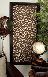 Deco 79 Traditional Scroll-Designed Wood Wall Panel W-34092, 51