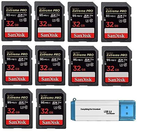 Amazon.com: SanDisk - Tarjeta de memoria SD HC Extreme Pro ...