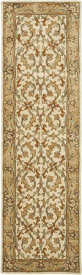 Safavieh Heritage Collection Hg967a Handmade Traditional Oriental Premium Wool Runner 2 3 X 6 Beige Gold Furniture Decor