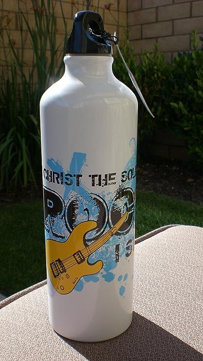 Amazon.com: Solid Rock 24 oz sin BPA aluminio botella de ...