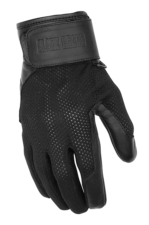 e14be16d8 Amazon.com: Black Brand Women's Leather/Mesh Cool Rider Motorcycle Gloves ( Black, XX-Large): Automotive