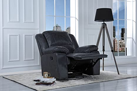 Marvelous Divano Roma Furniture Oversize Ultra Comfortable Air Leather Fabric Rocker And Swivel Recliner Living Room Chair Grey Beutiful Home Inspiration Xortanetmahrainfo