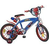Toimsa 876 Vélo Garçon - Spiderman - 5 à 8 ans, 16 Pouces