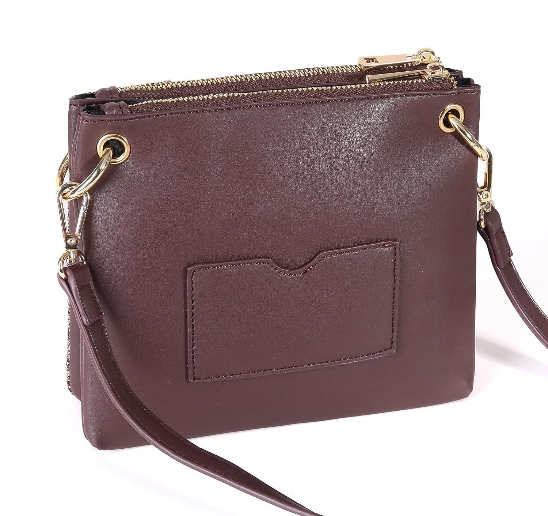 Aitbags Double Zip Handbag Crossbody Bags for Women 2 Compartments Messenger  Purse with Adjustable Shoulder Strap  Handbags  Amazon.com 5e6907705cd78