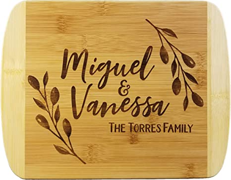 CUTTING BOARD PADDLE Custom Personalized Engraved Quality Wood Wedding Housewarming Anniversary Gift Family Name Sign Established Date Year