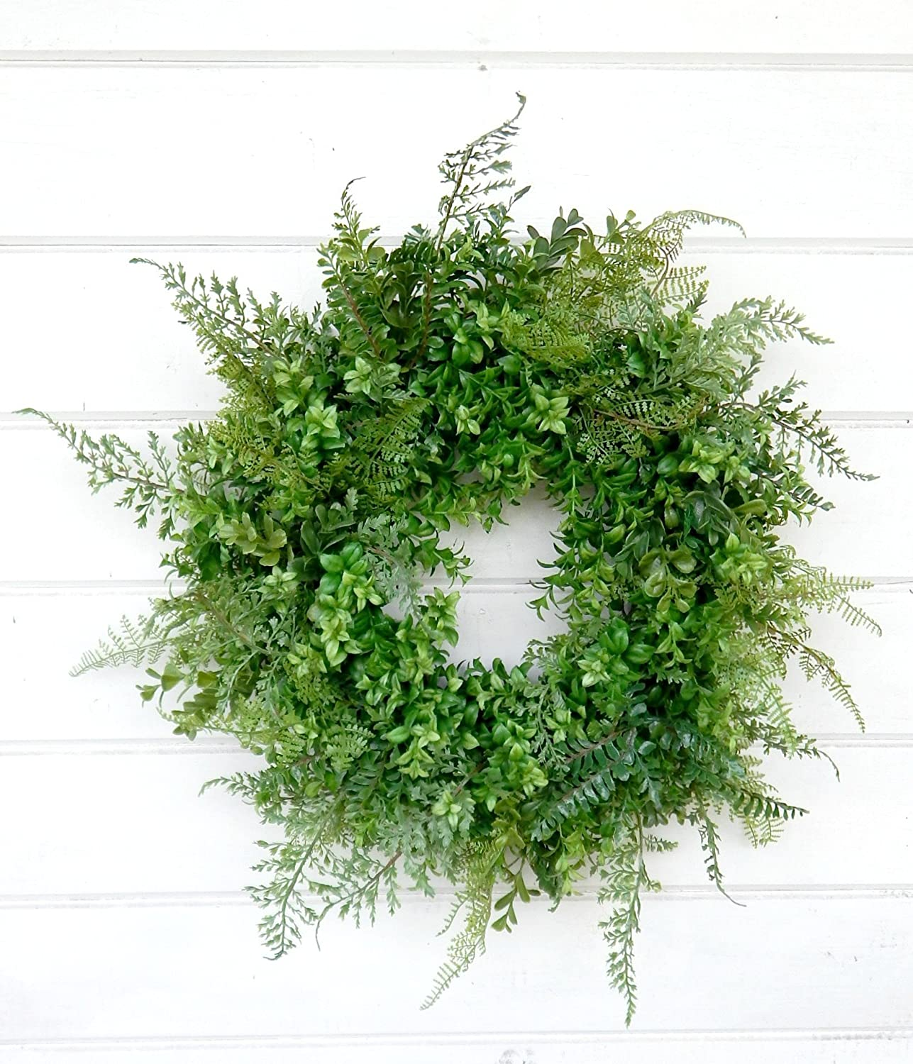 Boxwood Wreath, Fern Wreath, Fall Wreath, Year Round Wreath, Winter Wreath,Spring Wreath,Summer Wreath,Farmhouse Wreath, Home Decor, Housewarming Gift, Door Wreath, Fixer Upper Decor, Farmhouse Decor