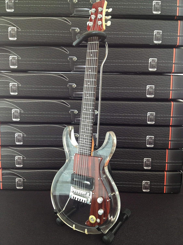 AXE HEAVEN KR-600 Keith Richard Dan Armstrong Clear Mini Guitar Collectible Figurines