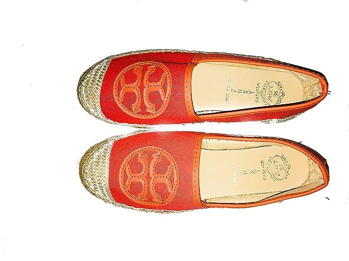 Amazon.com: LOVELY WOMEN ESPADRILLES FOR ANY MOMENT,FLAT SHOES ORANGE. ALPARGATAS DE MUJER PARA TODO TIPO DE OCASION.SIZE 38: Shoes