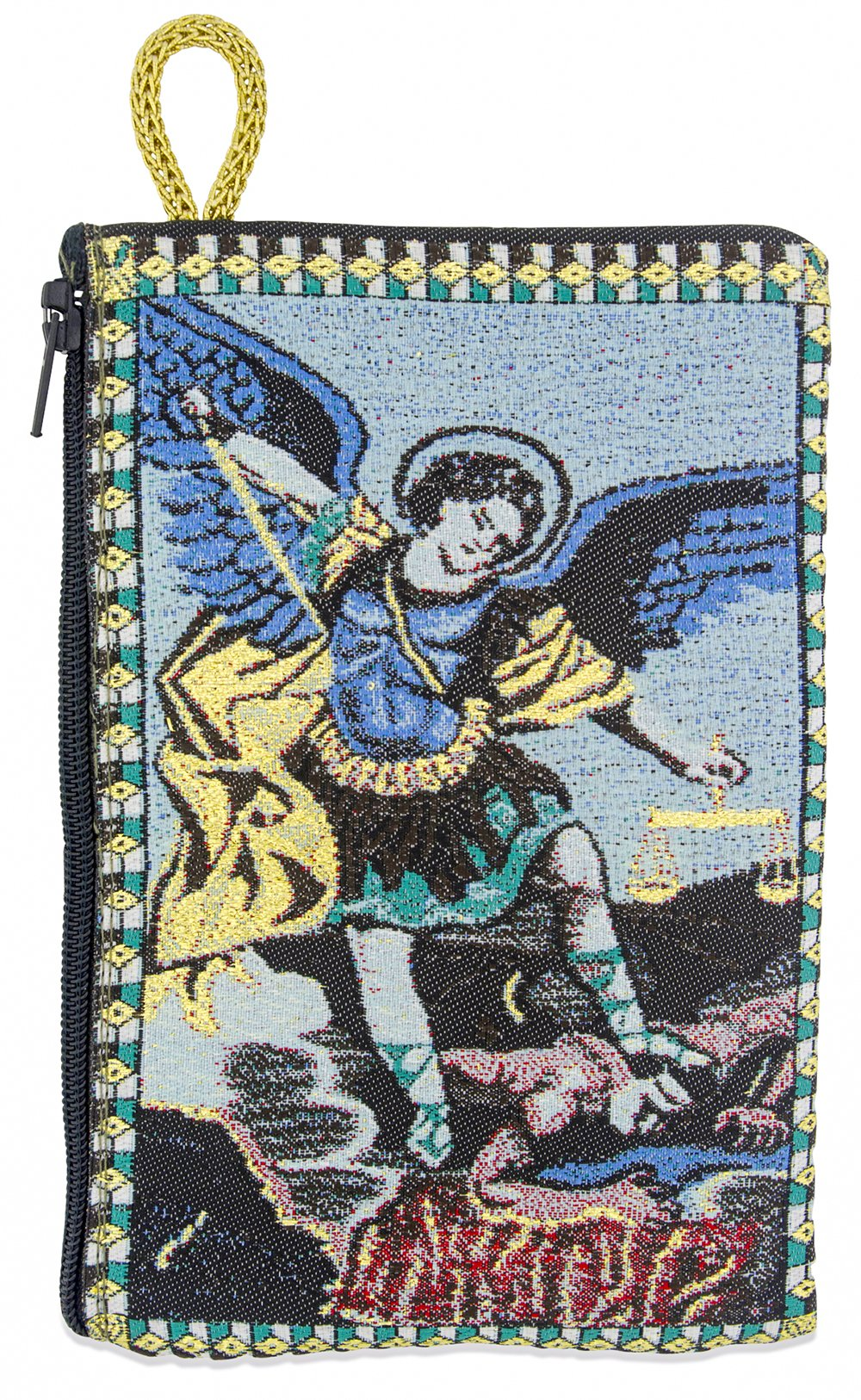 Venerare Embroidered Rosary Pouch by (Large, Saint Michael)