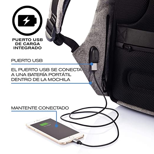 12331e6237 Amazon.com  XD Design Bobby Original Anti-Theft Laptop Backpack with USB  port (Unisex bag)  Computers   Accessories