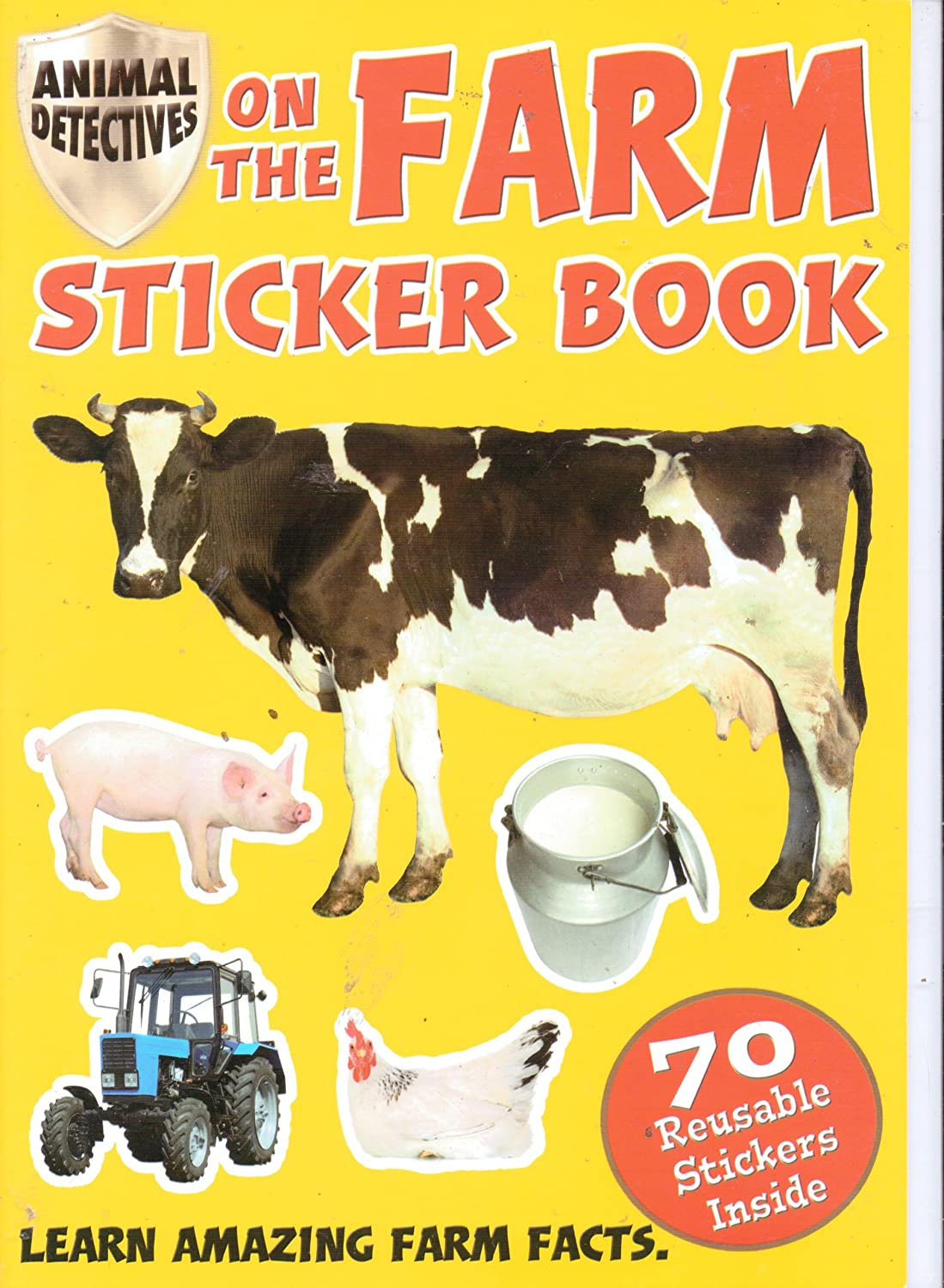 Amazon.com: Animal Detectives Sticker Book with Over 70 Reusable Stickers  (Assorted, Titles Vary) Cats. Dogs. In the Wild, or on the Farm: Toys &  Games