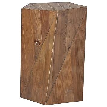 Amazon.com: Rivet - Mesa auxiliar de madera rústica, 6.5 in ...