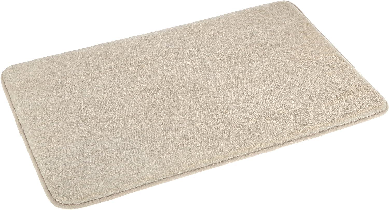 AmazonBasics Non-Slip Memory Foam Bath Mat - Pack of 4, 18 x 28 Inches, Beige