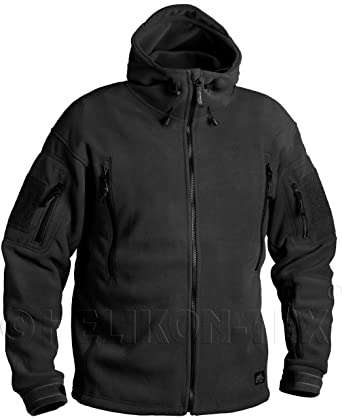 20ae11444c1f HELIKON-TEX PATRIOT Heavy Fleece JACKET - Black at Amazon Men s ...