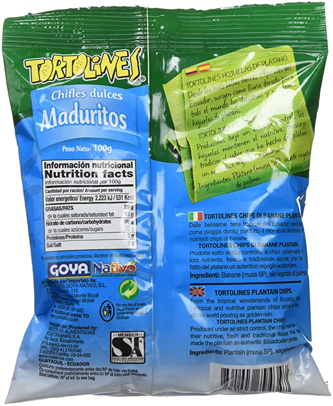 Tortolines - Maduritos - Chifles dulces - 100 g: Amazon.es: Alimentación y bebidas