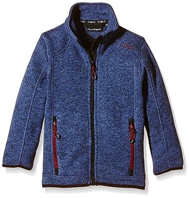 CMP, chaqueta de forro polar niño, niño, Jacke Fleece, Blu - Storm-Nero