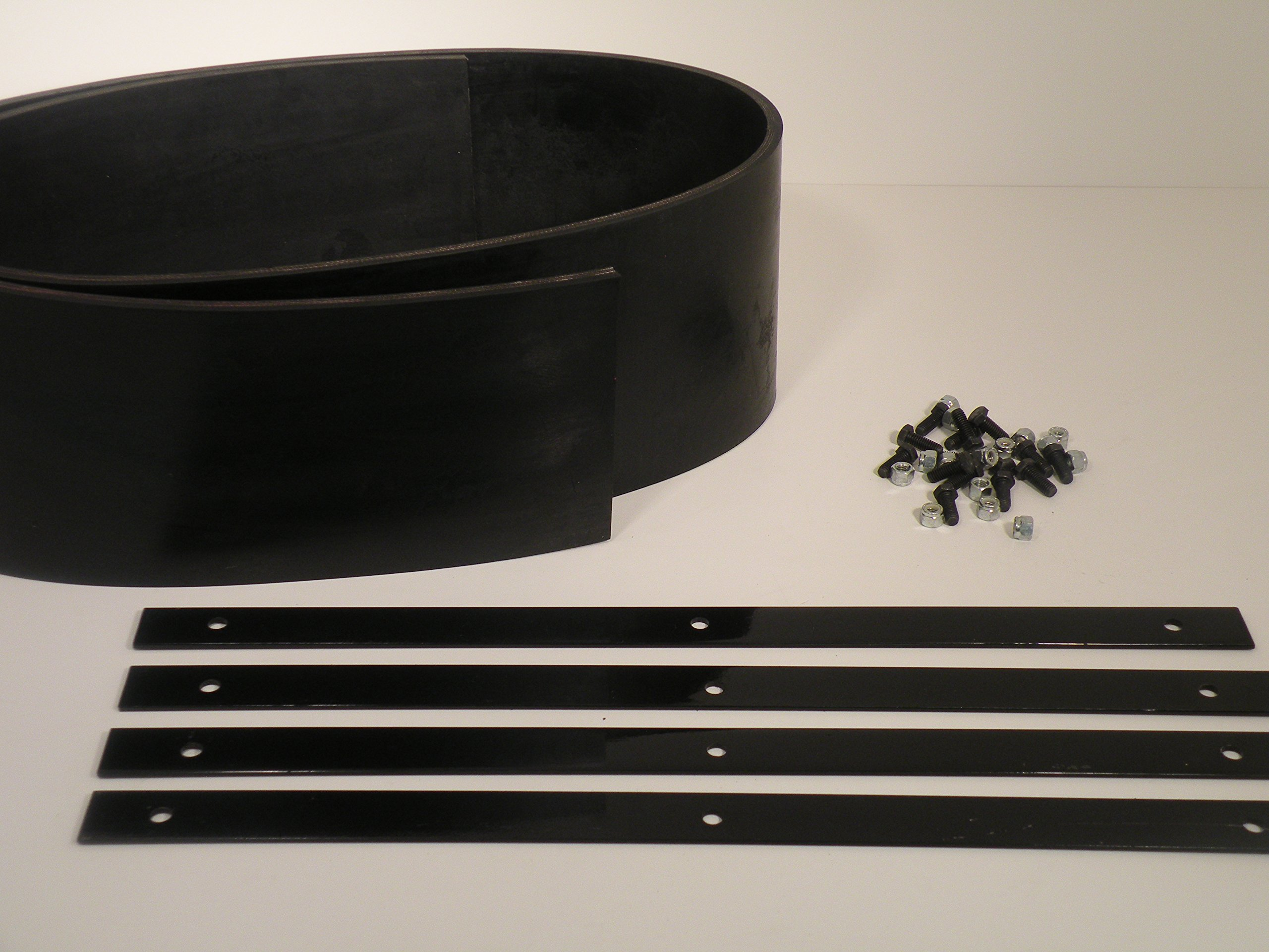 Universal Heavy Duty Rubber Snow Deflector Kit up to 8-10 Ft. Straight Plow by PlowRubber.com