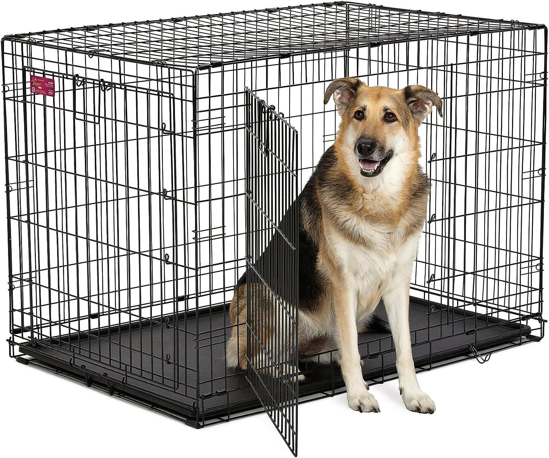 Alta calidad Luxus Perros jaula 108,5 x 73 x 77,5 cm caja de transporte transporte jaula plegable para perros jaula perro negro: Amazon.es: Productos para mascotas