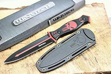 Amazon.com: Wartech HWT212 - Cuchillo de caza (hoja fija, 10 ...
