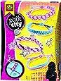 Kit de Creation de Bracelets Tisses avec Breloques - Pink City - 10 Breloques + Cordons et Cordes +