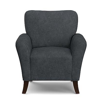 Superbe Handy Living Sasha Arm Chair, Charcoal Grey