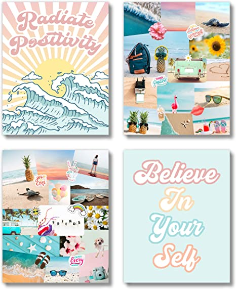 Amazon Com Brooke Vine Vsco Beach Teen Girl Room Wall Decor Art Prints Unframed 8 X 10 Inspirational Wall Art Motivational Quotes Posters For Kids Tween Women Office Bedroom Dorm Cubicle