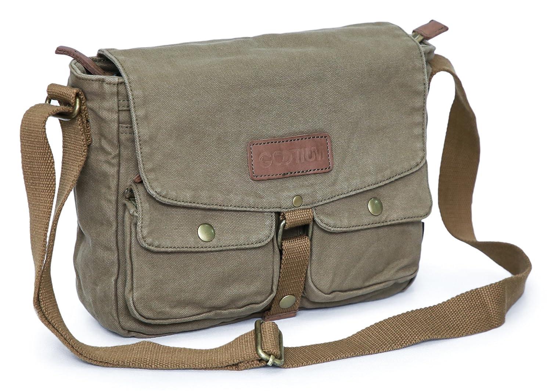 Gootium Canvas Messenger Bag – Vintage Crossbody Shoulder Bag Military Satchel