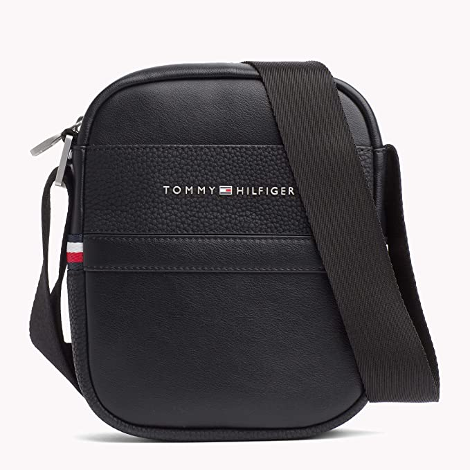 41dbb1b9dd Tommy Hilfiger Th Business Mini Reporter - Borse a spalla Uomo, Nero (Black)