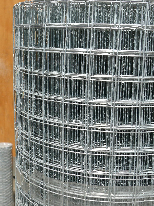 geschweißter Draht Stahl Mesh 0,9 m x 15 m verzinkt Draht Zaun 25 mm ...