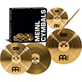 Meinl Cymbals HCS1314+10S HCS Pack Cymbal Box Set with 13-Inch Hi Hats, 14-Inch Crash, Plus a FREE Splash Cymbal, FREE Sticks, and FREE Lessons