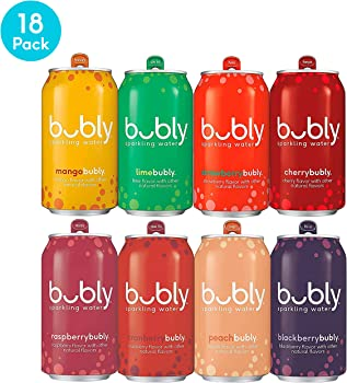 18-Pack Bubly Cans Berry Bliss Sampler Sparkling Water, 12 fl oz.