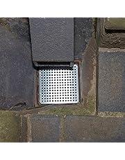 Simply Hardware - Protezione per Scarico, 150 x 150 mm, in Acciaio Inox, per Mantenere Gli scarichi puliti da Foglie e detriti