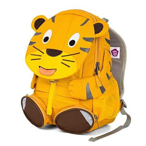 91ba2862b4b8 Amazon.com  Affenzahn Kindergarten Kids Backpack with Adjustable Chest  Strap for Girls and Boys Preschool from 3-5 Years Old Theo Tiger Yellow   Baby