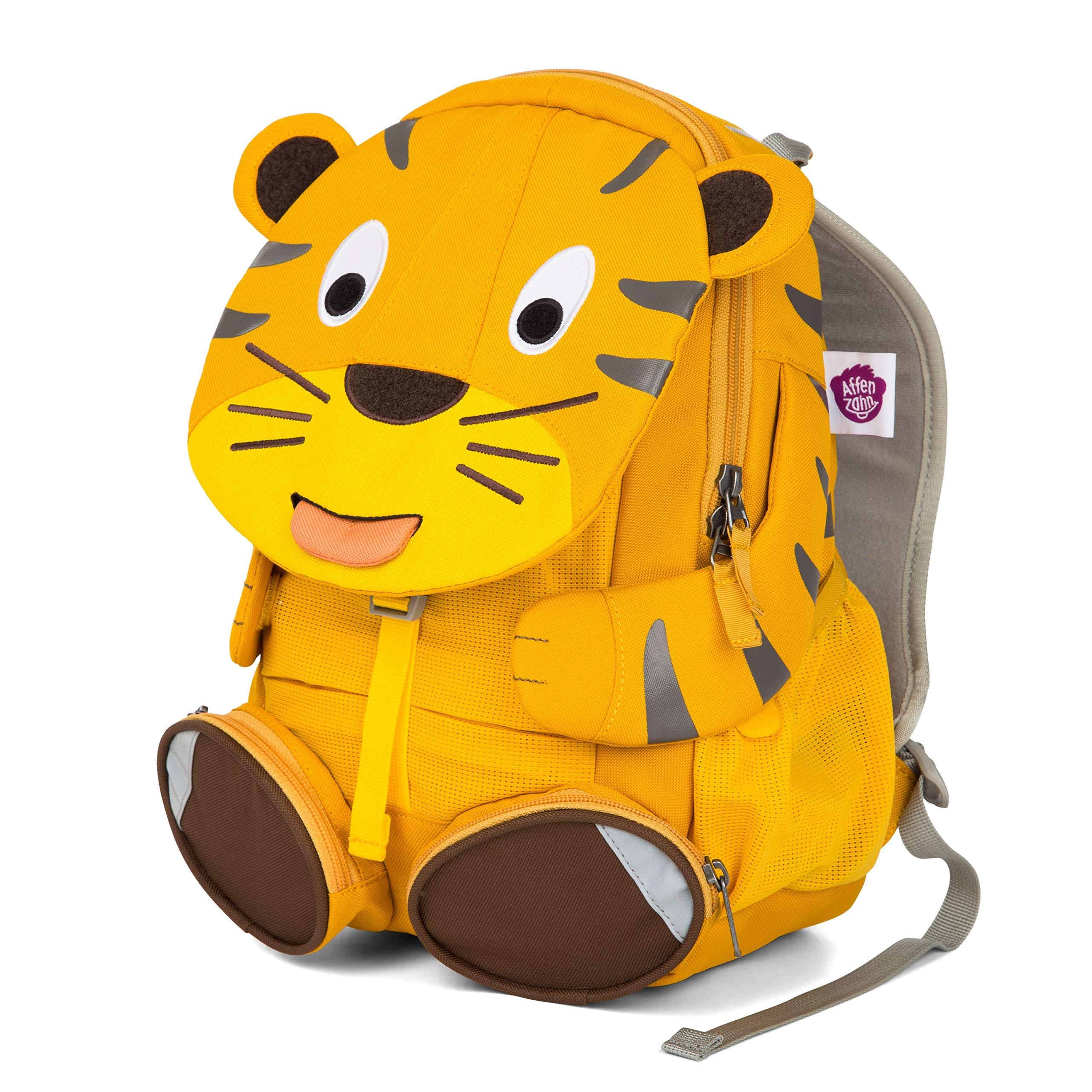 610736b00dced Affenzahn Kinderrucksack mit Brustgurt Theo Tiger für 3-5 Jährige Jungen  und Mädchen im Kindergarten