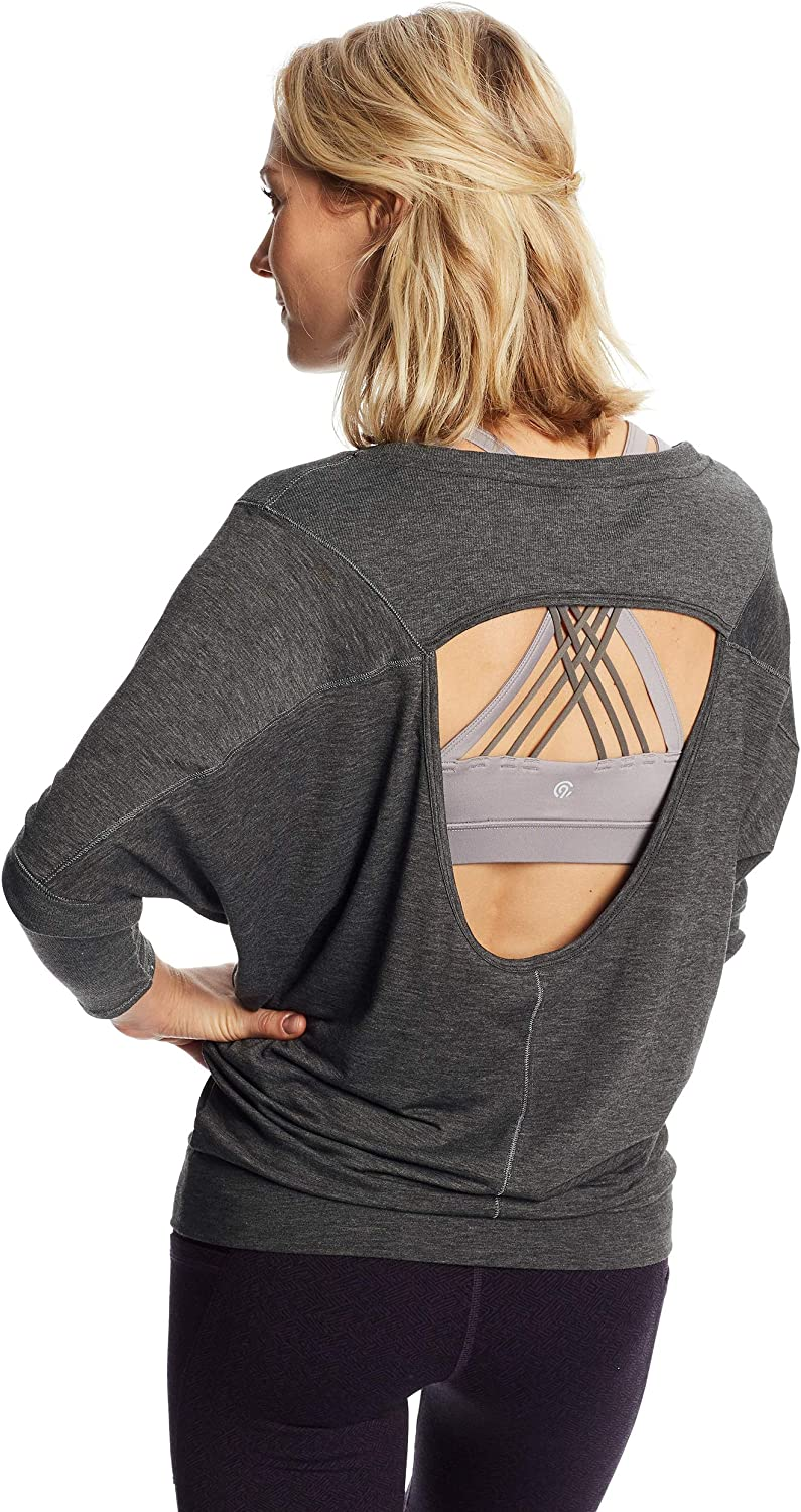 C9 Champion Womens Long Sleeve Open Back Top