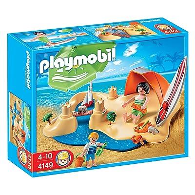 Playmobil 4149 - Jeu de construction - CompactSet Vacanciers à la plage