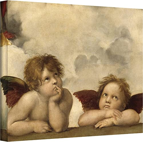 ArtWall Cherubs by Raphael Gallery Wrapped Canvas, 24 by 32-Inch