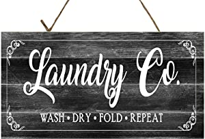 Twisted R Design Laundry Room Sign (Black and White Laundry Co)