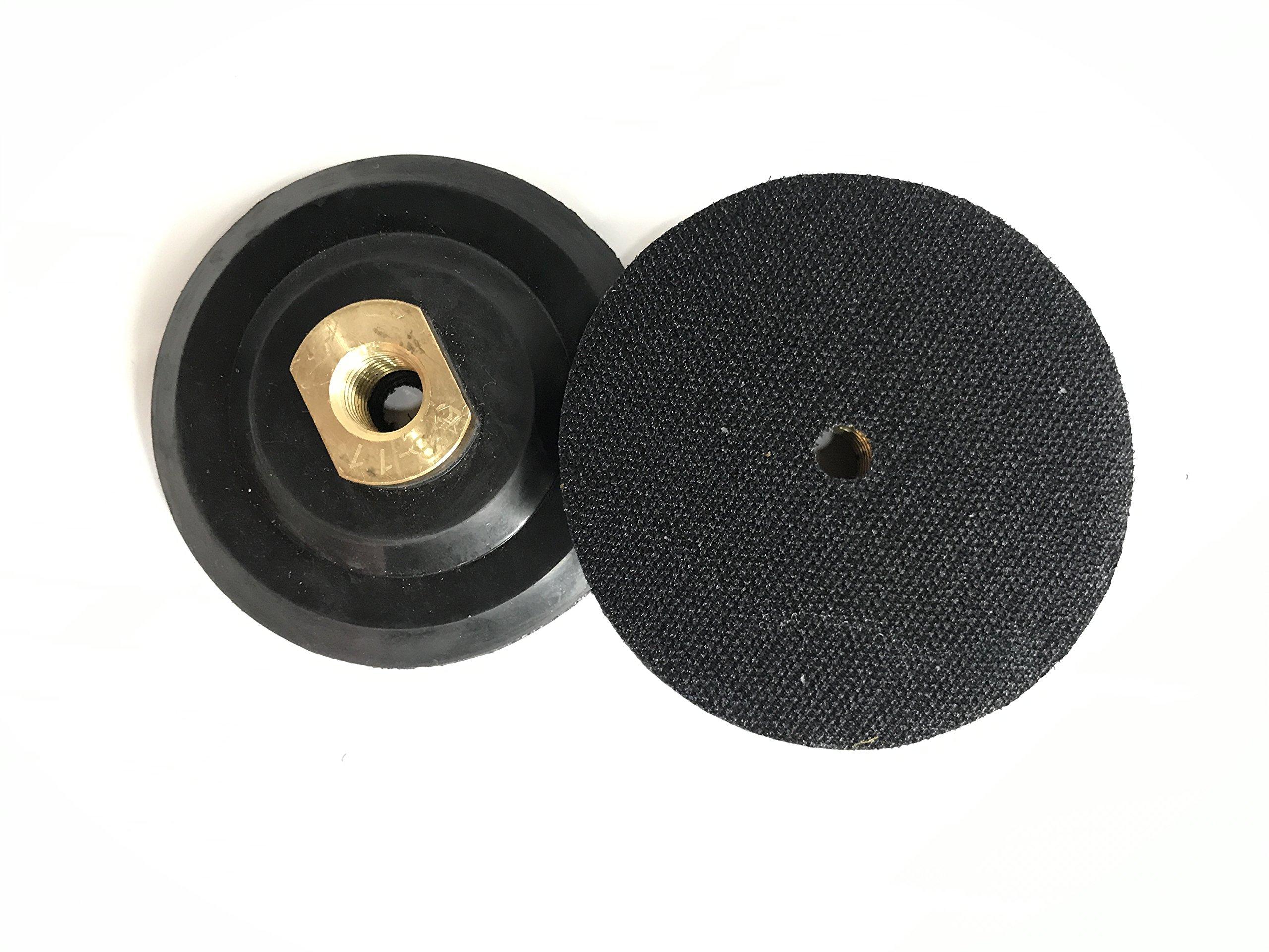 TUFF BUFF - Wet/Dry Diamond Polishing Pads - 11 Piece Set with Rubber Backer for Granite, Stone, Concrete, Marble, Travertine, Terrazzo- 4'' Inch Pads by Tuff Buff (Image #7)