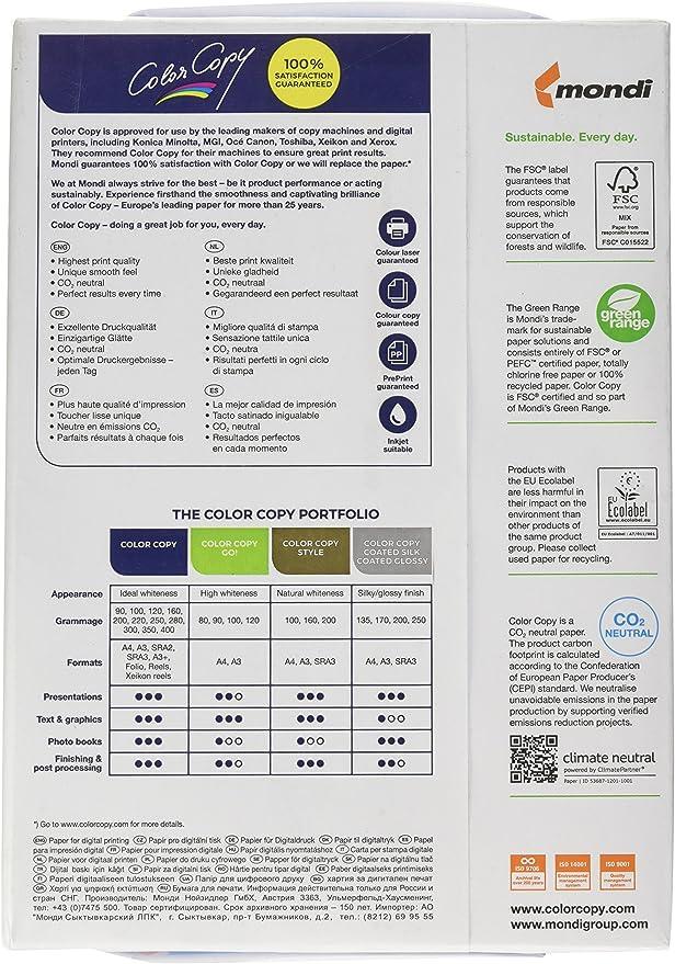 Color Copy CCA4200 - Paquete 250 hojas de papel, 200 g/m², A4 ...