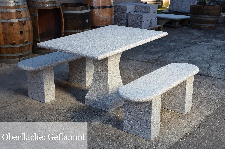 Sitzgruppe Gartenmöbel Aus Granit Gartentisch Gartenbänke Aus