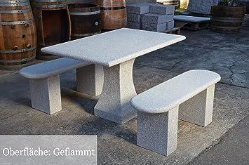 Amazon De Sitzgruppe Gartenmobel Aus Granit Gartentisch